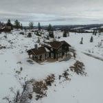 lafta hytte i brun
